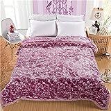 Blanket Plush Nap Faux fur Lazy blanket Travelling Super soft Warm Extra silky-B 200x230cm(79x91inch)