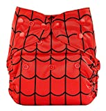 Bumberry Reusable Diaper Cover and 1 Natural Bamboo Cotton Insert (Highlight Red)