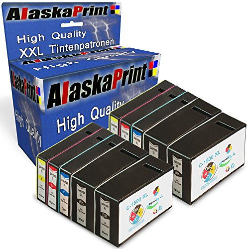 Preisvergleich Produktbild Alaskaprint 10er Set Druckerpatronen kompatibel für Canon PGI-1500XL PGI 1500XL für canon maxify mb2050 patronen