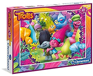 TROLLS - Puzzle 60 Piezas (Clementoni 08422)