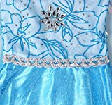 FStory&Winyee Kinder Eiskönigin ELSA Cosplay Kostüm Mädchen Prinzessin Blau Kleid Karneval Party Verkleidung Halloween Fest Test