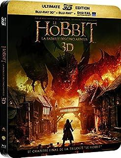 Le Hobbit : La bataille des cinq armées - Édition Limitée SteelBook - Blu-ray 3D + 2D [Combo Blu-ray 3D + Blu-ray + Copie digitale - Édition boîtier SteelBook] (B00SXBVKXY) | Amazon price tracker / tracking, Amazon price history charts, Amazon price watches, Amazon price drop alerts