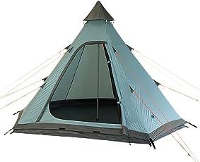 10T Camping-Zelt Mildura 3 Tipi mit Schlafbereich für 3 Personen Outdoor Idianerzelt mit Dauerbelüftung, Trekkingzelt mit eingenähter Bodenwanne, Wasserdichtes Pyramidenzelt mit 5000mm Wassersäule