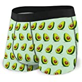 GLGFashion Men's Breathable Underwear Avocado Background Comfortable Boxer Briefs Slip Boxer da Uomo