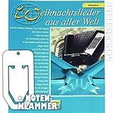 Weihnachtslieder aus aller Welt für Akkordeon inkl. praktischer Notenklammer - 29 beliebte Weihnachtslieder von STILLE N