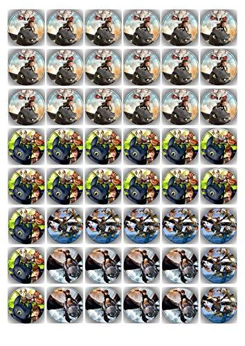 48 Muffin & Cupcake Aufleger vorgestanzt Fondant Drachenzähmen leicht gemacht C1