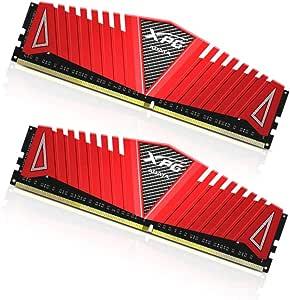 ADATA 8GB DDR4-2133 8Go DDR4 2133MHz Module de mémoire - modules de mémoire (DDR4, PC/Serveur, 2 x 4 Go, Radiateur, Rouge, RoHS)
