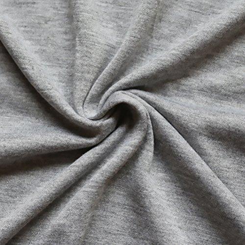 T-Shirt Donna Eleganti Bluse In Pizzo Senza Schienale Manica Lunga Maglietta Rotondo Collo Autunno Tops Casual Felpa Moda Cerimonia Camicetta Camicia Di Base Grigio