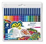 Staedtler 326WP20AC Noris Club Fibre-Tip Pen with Wallet - Assorted Colours, Pack of
