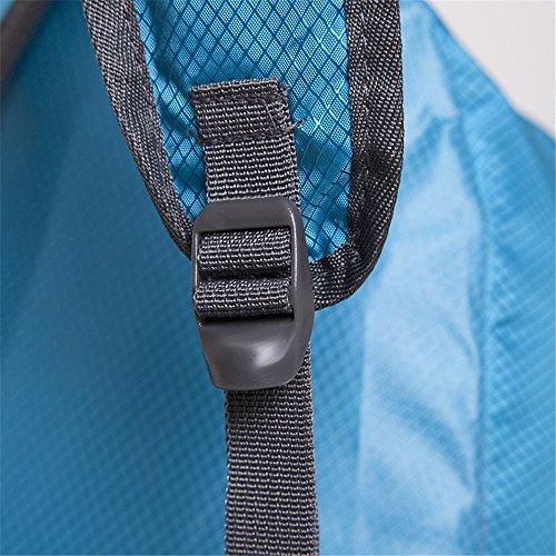 Dlflyb Outdoor Rucksack Super Licht Outdoor Rucksack Schultern Wasserdichte Tasche Falten blue