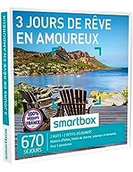 SMARTBOX - Coffret Cadeau - 3 JOURS DE RÊVE EN AMOUREUX - 670 Séjours : Maisons d'Hôtes, Hôtels de Charme, Auberges et Domaines