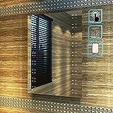 ELEGANT 500 x 700mm Modern Heated LED Illuminated Bathroom Mirror with Backlit Light Sensor + IP44 Demister