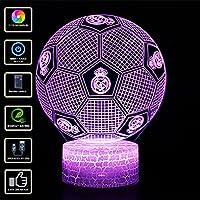 3D Lámpara de Escritorio NHSUNRAY 7 colores LED Touch lámpara de mesa con control remoto para