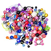 20ombligo anillo curvado pesas), varios colores–perfecto para pequeñas tiendas o personas