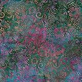 Fabric Freedom Smaragd Grün Loom Design 100% Baumwolle Bali Batik Tie Dye Muster Stoff für Patchwork, Quilten &,–(Preis Pro/Quarter Meter)