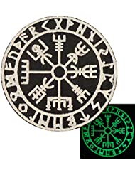 Glow Dark Vegvisir Viking Compass Norse Rune Morale Tactical Attache-boucle Écusson Patch