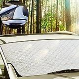 Auto Scheibenschutz 92*142CM Front Sonnenblende Frontscheibe, Schneeschutz Scheibenabdeckung für Winter+Sommer KFZ Windschutzscheibe