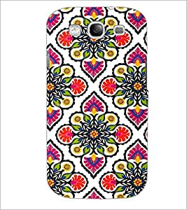 PrintDhaba Floral Design D-2045 Back Case Cover for SAMSUNG GALAXY S3 (Multi-Coloured)
