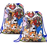 12 Pcs For Sonic Goodie Bags Birthday Party Supplies For Kids,Double Side Party Decorations