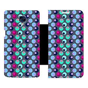 Skintice Designer Flip Cover with hi-res printed Vinyl sticker wrap-around for OnePlus 3