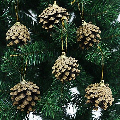clg-fly Albero di Natale Accessori ornamenti decorazioni natalizie, 10Confezione da 6/# 1sei la pena