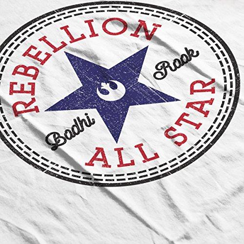 Star Wars Rogue One Rebellion Badhi Converse Logo Women's Vest white