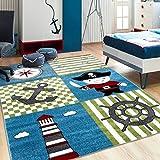Kinderteppich Kinderzimmer Teppich mit Motiven Piratenschiff Kids 0450 Multi - 160x230 cm