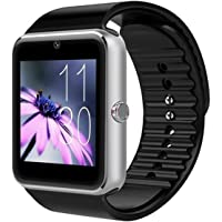 Bluetooth Smartwatch da Polso Intelligente con Telecomando Fotocamera,Lettore Musicale,SIM /TF Card Slot Anti-lost Touch…