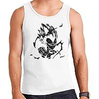 Majin Vegeta Black Print Dragon Ball Z Men's Vest