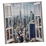 Sharplace 3D Vorhang Für Fenster Modernes Schlafzimmer Gardinen Foto Gedruckt Gardinen,2 Pcs - 11#
