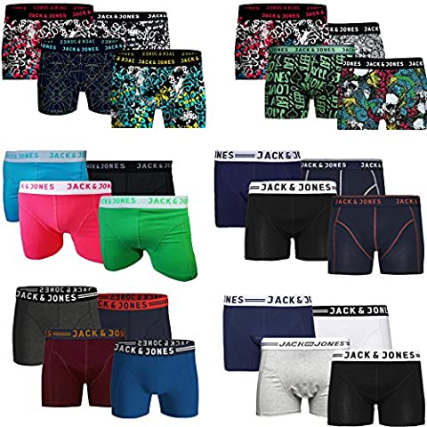 Jack & Jones Trunks 4er Pack Boxershorts Boxer Shorts Unterhose CORE S M L XL XXL (M, Neon)