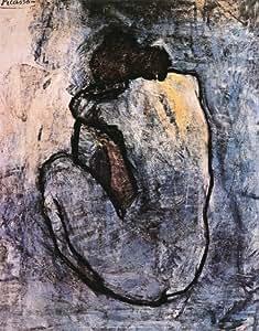 Reproduction d'art 'Nu bleu, 1902', de Pablo Picasso, Taille: 28 x 36 cm