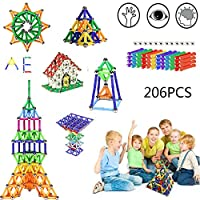 Note:   1,The kit contains small parts and therefore is not suitable for children younger than 3 years of age.   2,Some pattern need to be made with more building blocks.You can buy more set of our magnetic stick.   Feature:      Material: ABS plast...
