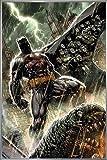 DC Comics Poster Batman Bloodshed (93x62 cm) gerahmt in: Rahmen Silber