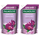 Palmolive Naturals Black Orchid & Milk Liquid Hand Wash, 750ml Refill Pack, Wash Away Germs, Refreshing Fragrance (Pack of 2)
