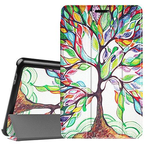 Fintie Huawei Mediapad T3 8 Hülle Case - Ultra Dünn Superleicht SlimShell Ständer Case Cover Schutzhülle Etui Tasche mit Zwei Einstellbarem Standfunktion für HUAWEI MediaPad T3 8 20,3 cm (8,0 Zoll) Tablet-PC, Liebesbaum