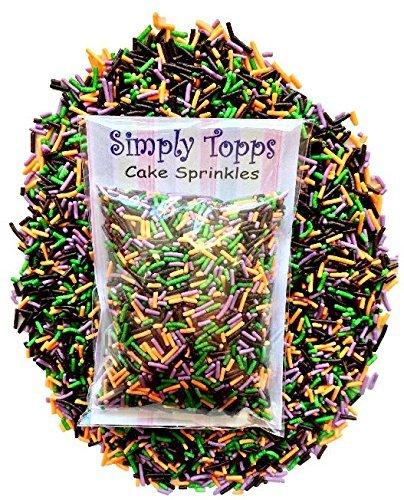 Halloween Themen Mix Zucker Stränge Kuchen Streusel 30g für Kuchen und Cupcake Deko