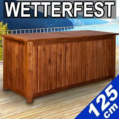 Auflagenbox aus Hartholz 125 cm