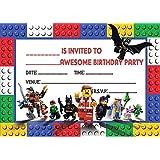 LEGO MOVIE CHILDRENS BIRTHDAY PARTY INVITES INVITATIONS X 20 PACK
