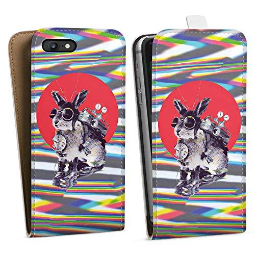 Apple iPhone X Silikon Hülle Case Schutzhülle hase festivalsommer Downflip Tasche weiß