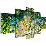 Bild 200 x 100 cm - Reisfelder Bilder- Vlies Leinwand -