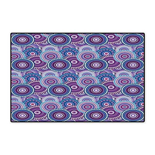 Fußmatte, klein, Barock-Stil, Blumenmuster, Vintage-Badematte, 40,6 x 61 cm, Blassrosa, getrocknet, Rose, Weiß 20x32 inch (50cm x 80cm) Color10 -