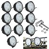 Hengda® 10X 27W LED Scheinwerfer Arbeitsleuchte Zusatzscheinwerfer 6500k Offroad Flutlicht 10-30 V DC