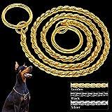 FidgetGear Halsband, Choke-Halskette, für Training, Schlangen-Halsband, 4 Farben, 7 Größen