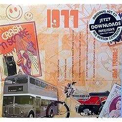 1977 Geburtstags-Geschenke - Kompilation Musik CD - Leere Jahr Grußkarte Geschenk - 20 Original HitParaden Songs - Karte misst 15 x 14 cm - Für einen Mann oder eine Frau