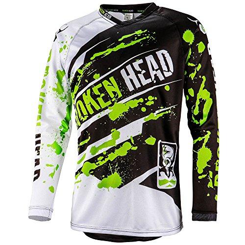 Broken Head MX Jersey Green Thunder | Moto-Cross Jersey - BMX - Offroad - Trikot - Racing Shirt (S)