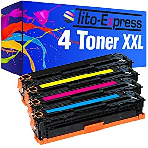 PlatinumSerie® 4 Toner-Patronen XL kompatibel für HP CB540A CB541A CB542A CB543A 125A HP Color LaserJet 1216 CP 1217 CM 1312 CB MFP CM 1312 CI MFP