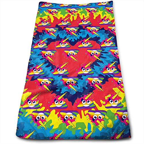 Bath Towels Colorful Poop Face Towels Highly Absorbent Washcloths Multipurpose Towels for Hand Face Gym and Spa 30cm*70cm