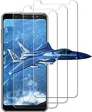Pellicola Vetro Temperato per Samsung A8 2018, [3 Pack] Pellicola Protettiva Samsung Galaxy A8 2018, 9H Durezza, Ultra Resistente, HD Alta Trasparenza Protezione Antigraffi Screen Protector Film per Galaxy A8 2018