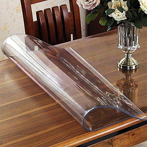Pvc-tablecloth pellicola protettiva per tavolo protettivo per copritavola in pvc trasparente spesso/tappetino da scrivania, multi formato rettangolare, thick 2mm, 80*140cm